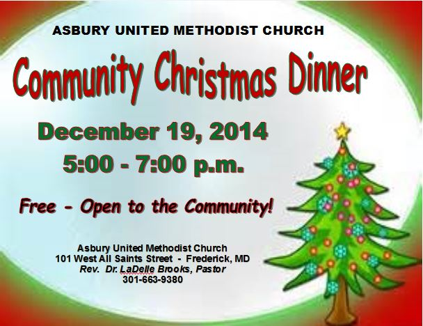 Church Christmas Dinner.Asbury United Methodist Church Community Christmas Dinner On