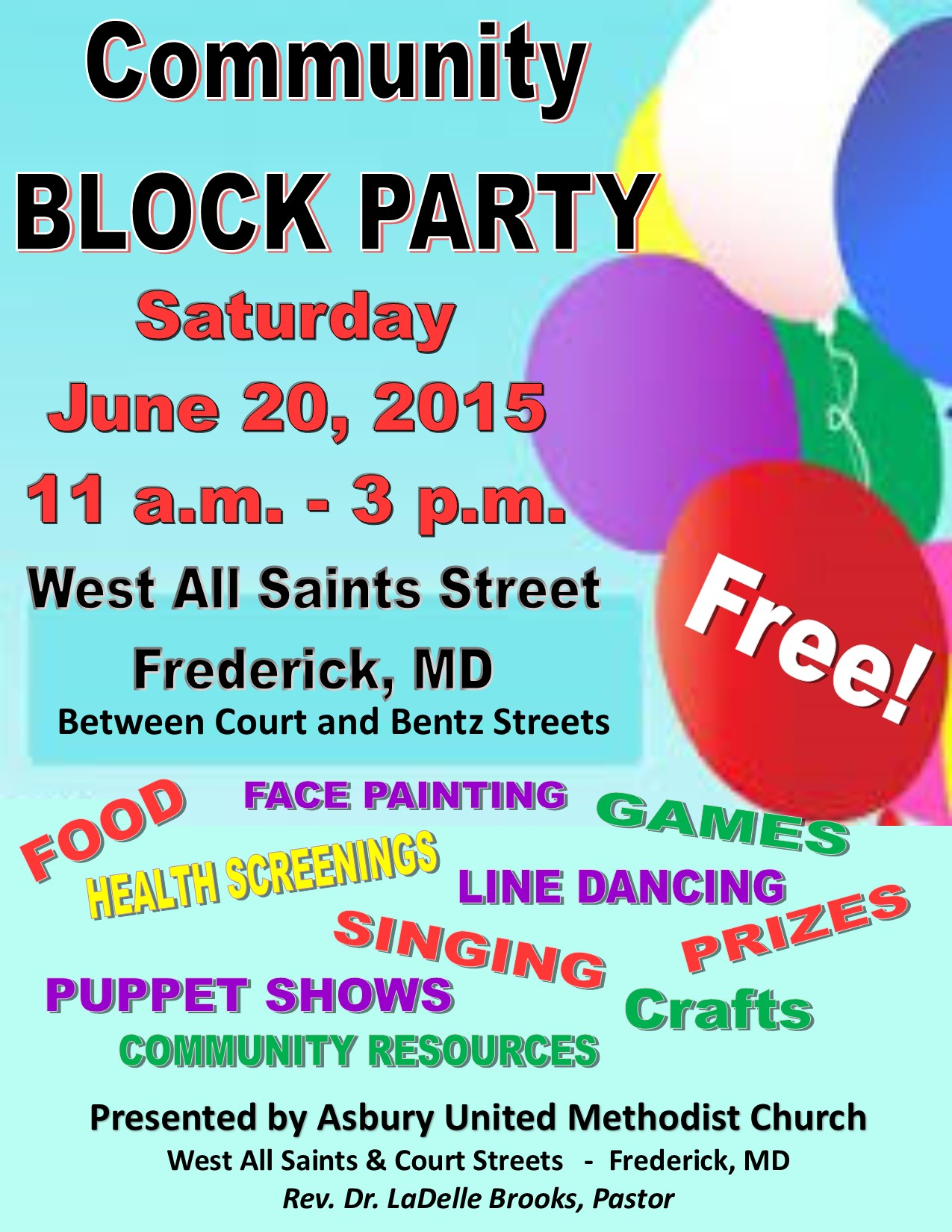 asbury united methodist church community block party june 20 2015